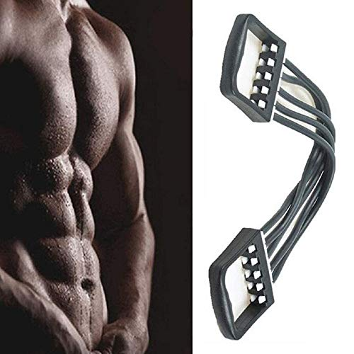 Felibel Stretcher Chest Resistance Band - 5 Elastic Band Chest Expander Exercise for Home Gym, Muscle Training and Body Building