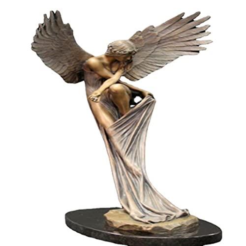 Hopowa Figura de ángel, Figuras de ángel de Resina El ángel del Recuerdo y la redención Estatua de jardín Religiosa para Oficina, Iglesia, decoración del hogar, Adornos artísticos