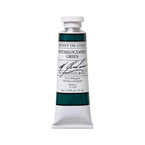 M. Graham Artist Oil Paint Phthalo Green 1.25oz/37ml Tube