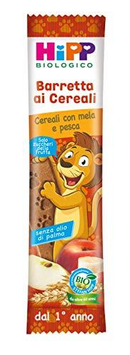 Hipp - Barrette Ai Cereali Bio, Gusto Cereali Con Mela E Pesca, 24 Pezzi da 20 G Ciascuno - 480 g