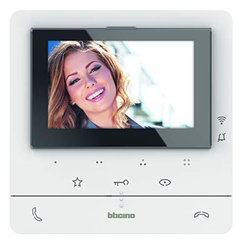 Bticino Videoportero Classe 100X16E con conexión Wi-Fi, pantalla táctil de 7 pulgadas, para ampliación para vivienda de dos familias, 344932, color blanco