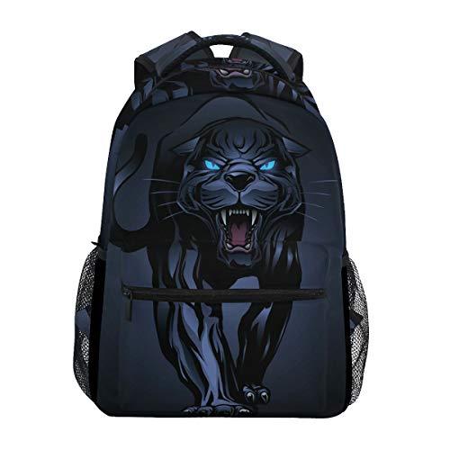 Roaring Black Panther Mochila escolar Mochila de viaje para estudiantes niños niñas