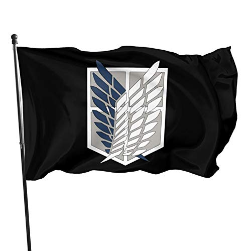Mderwan Anime Flag Decorations Party Cosplay Game Flags for Home House Garden Outdoor Indoor Decor 3x5ft