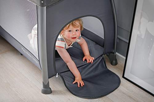 Hauck Play'n Relax Center Reisebett, 7-teiliges, ab Geburt bis 15 kg, faltbar und kippsicher, mit Neugeborenen Einhang, Wickelauflage, seitlicher Ausstieg, Netztasche, Räder, Transporttasche, grau - 26
