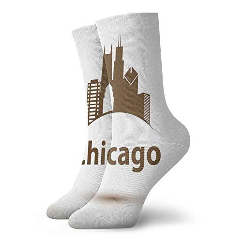 Calcetines suaves de longitud media de pantorrilla, diseño de póster retro de la ciudad de Estados Unidos, para mujeres y hombres, lo mejor para correr