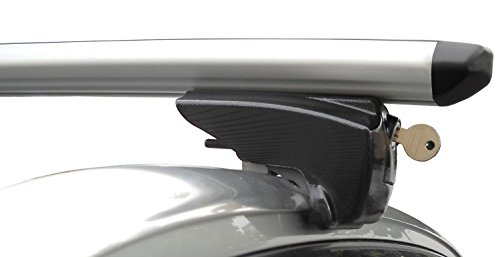 BB-EP-Menabo Einfacher Aluminium Dachträger 90303650 für OPEL Astra Sports Tourer mit integrierter Dachreling (Bündige Schiene) für U-Bügel Montage oder T-Nut Montage mit 21 mm Breite