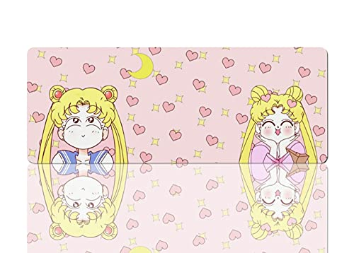 Large Anime Mouse Pad Pink Non Slip Mouse Pads for Desk Kawaii Computer Gaming Mat 11.8x31.5 in