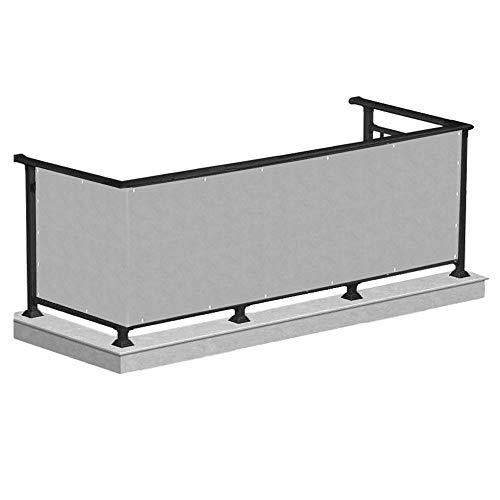 SPRINGOS Balkon Sichtschutz UV-Schutz | 80 x 500 cm | Grau | Balkonbespannung | Balkonverkleidung Zaun | Balkonabdeckung für Balkon Terrasse