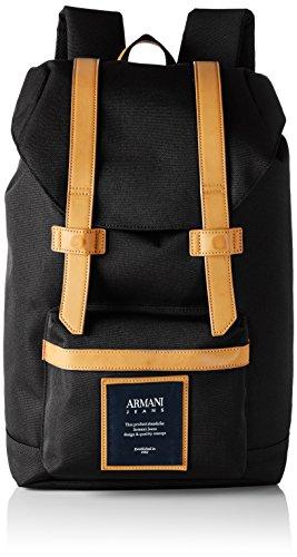 Armani Jeans 9321187P914 herenrugzak, 13x43x28 cm (B x H x D), zwart (NERO 00020)