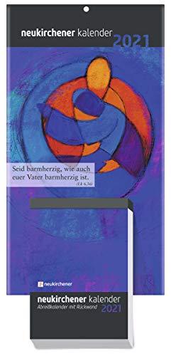 BRUNNEN 1070300011 Tages-Abreißkalender Neukirchener Kalender, 1 Seite = 1 Tag, 110 x 150 mm, Kalendarium 2021