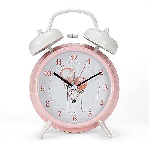 Creult - Reloj despertador para dormitorio para adolescentes y niñas, fácil de usar, con alarma fuerte para niños que duermen...