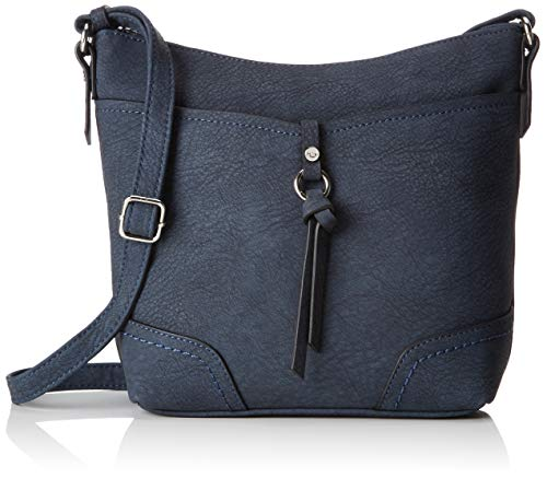 TOM TAILOR bags IMERI Damen Umhängetasche S, Blau, 28x8,5x25