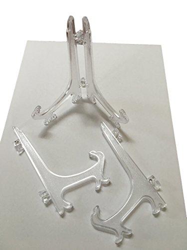 5x/10x oder 20x Tellerständer Telleraufsteller ACRYL – Transparenter Teller Stütze Ständer für Küche, Schrank auch für Sammler Porzellan – Aufsteller 12cm hoch – Teller bis 25cm Durchmesser (10)
