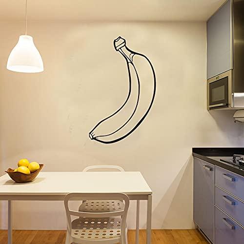 Adhesivo decorativo para pared con diseño de plátano, diseño de frutas, decoración para el hogar, niños, guardería, habitación del bebé, pegatinas de pared desmontables, 59 x 38 cm