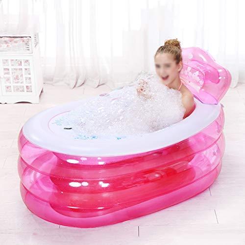 Chicti Opblaasbare badkuip, opvouwbaar, draagbaar, dikte van de badkamer voor volwassenen, binnen en buiten, met elektrische pomp, verschillende stijlen