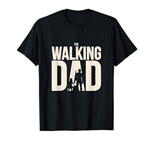 Padre Papà Figlia Escursioni Correre Walking Dad vestito Maglietta