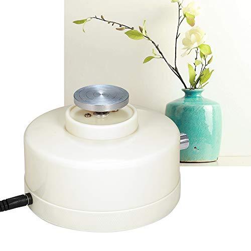 USB-Mini-Keramik-Rad-Maschine, für Keramik Arbeits Keramik 4.3cm Elektrische Drehscheibe Handgemachte Lehm Throwing Herstellung von Keramikmaschinen,Weiß