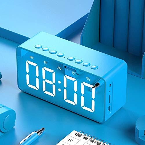 FPRW Digitale wekker met spiegel met grote cijfers, dual alarm, elektronische wekker, bureauwekker, creatief cadeau