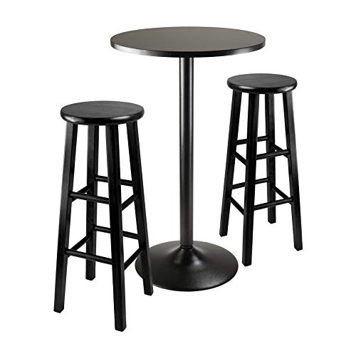 Winsome Obsidian Pub Table Set