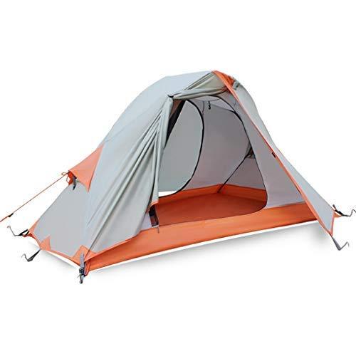 YBB-YB YankimX Tienda al Aire Libre, Individual Doble bastón de Aluminio Que acampa contra la tormenta de Lluvia Carpa Camping/Cuatro Estaciones Riding Equipo Tiendas de campaña (Color : B)