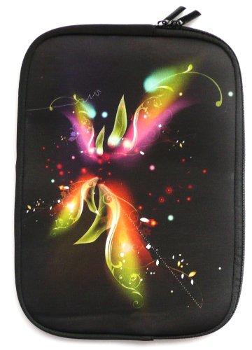 Emartbuy® One Tablet Xcellent 10 Windows Tablet 10.1 Zoll Fantasy Blumen Wasserfest Neopren weich Zip Tasche Hülle Sleeve ( 10-11 Zoll eReader / Tablet / Netbook )