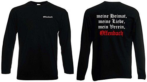 world-of-shirt Herren Longsleeve Shirt Offenbach Ultras Meine Heimat