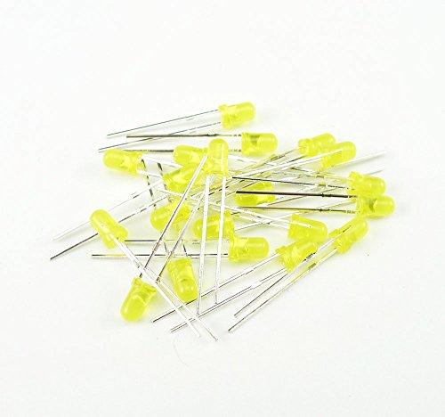 『KKHMF 100個 3mm LED 発光ダイオード LED電子部品バッグ 5種類 各20個』の3枚目の画像