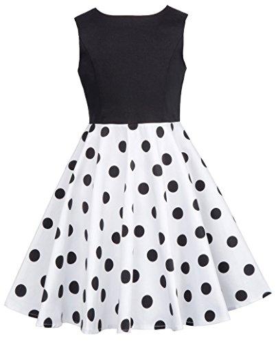 Fashion Maedchen Polka dot Kleid Geburstag Kleid 9-10 Jahre CL10600-2