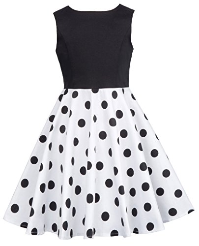 GRACE KARIN elegant Kinder Vintage Kleid Festliche Kinderkleider 6-7 Jahre CL10600-2