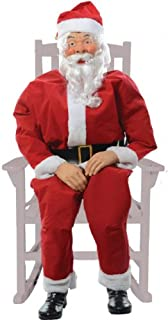 Christmas Prop: Rocking Chair Santa- Boxed - Product Description - Rocking Life-Size, Fully Clothed, Santa With Internal Sound Contained. Works On 110 Outlet, Operates On Pressure Pad, Infrared Sensor Or Continuous Action. Some Assembly Acquired ...