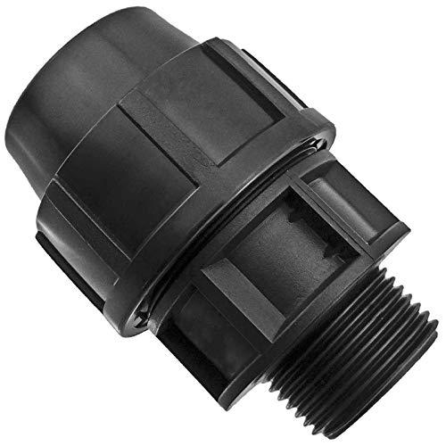 PP Fitting | Kupplung mit Außengewinde | für PE-Rohr ∅ 32 mm x 1 Zoll AG | Verschraubung Klemmverbinder