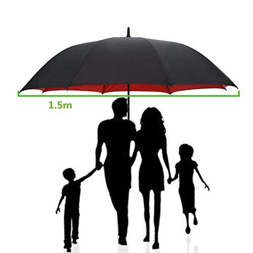 150 cm Golfschirm Männer Starke Winddicht Halbautomatische Langen Regenschirm Große Mann und Frauen Geschäfts Regenschirme Mens,Red