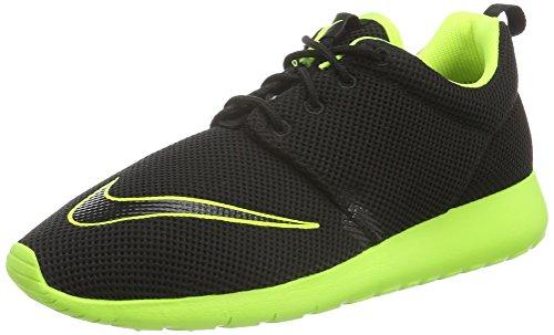 Nike Unisex Roshe One FB (GS) Shoe Low-Top, Schwarz (003 Black/Volt), 39 EU