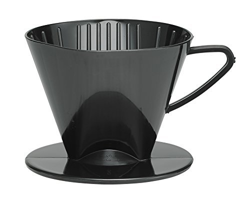 HIC Filter Membran, matt rot, Anzahl On Size, 1bis gebraut 2-cups, plastik, Schwarz, No.2