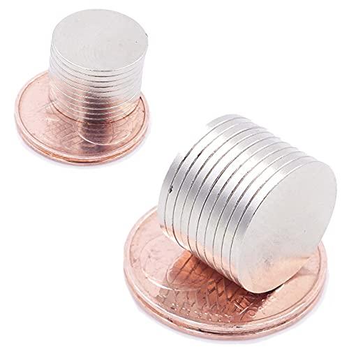 Brudazon | 35 Mini Imanes Discos 13x1mm | N52 Nivel más Fuerte - Los imanes de neodimio Ultra Fuertes | Imán del Poder para la Toma de Modelo, Foto, Pizarra Blanca | Pequeño, Redondo y Extra Fuerte