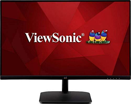 Viewsonic VA2432-MHD 60 cm (24 Zoll) Monitor (Full-HD, IPS-Panel, HDMI, DP, VGA, Eye-Care, Eco-Mode, Lautsprecher) Schwarz