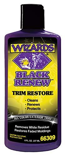 Wizards Exterior Detailing Tools - Cleaners, applicators, Tools. (Black Renew for Trim)