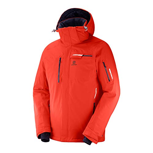 SALOMON Brilliant JKT M - Chaqueta, Hombre, Rojo(Fiery Red)