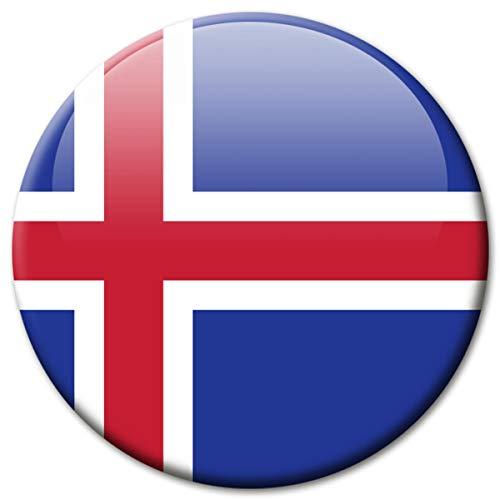 Kühlschrankmagnet Flagge Island Magnet Länder Flaggen Reise Souvenir für Kühlschrank stark groß 50 mm