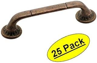 Amerock BP4483-RBZ Rustic Bronze Ambrosia Euro Stone Cabinet Hardware Handle Pull, 3-3/4
