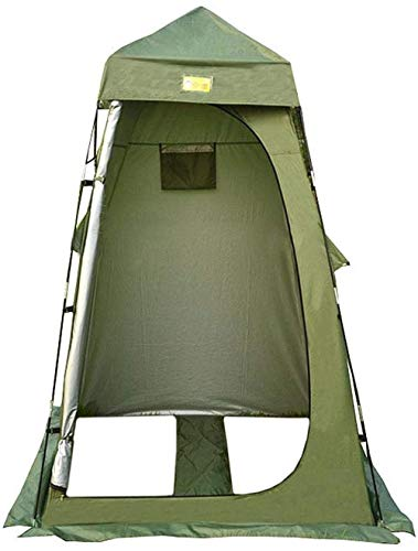 JSYYSJ Pop Up Toilet Tent, Camping Shower Privacy Tent With Window,Waterproof Portable Toilet, Beach Dressing Room Shelter Canopy, Include Tent Peg, Pole, Rope, Storage Bag Fishing Tents