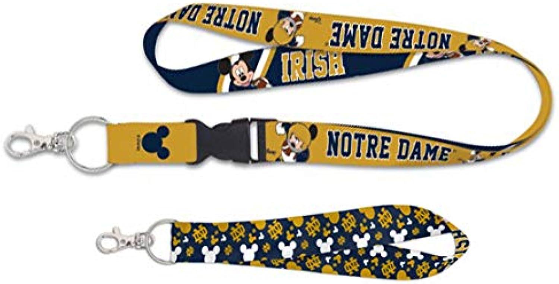 Wincraft Notre Dame Disney Fighting Irish Gift Set 1 Premium Lanyard and 1 Key Strap Key Chain
