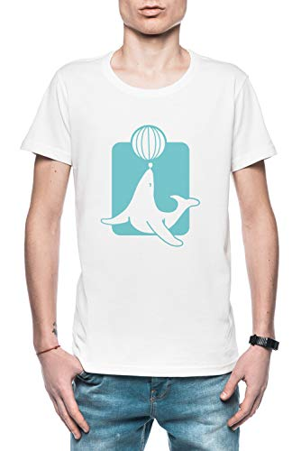 Sneeuw Zegel Heren T-Shirt Wit Men's T-Shirt White