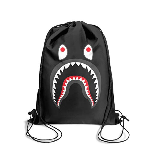 Drawstring Backpacks PONR TEE MENS Cinch Gym Book Rucksack Print Sackpack
