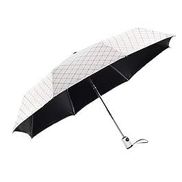 Rainbrace Sun UV Umbrella Compact Folding, Travel Rain Umbrella...