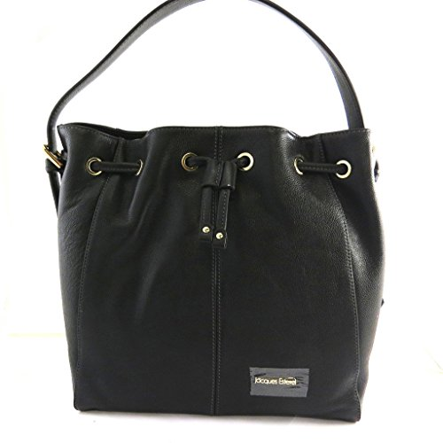 Borsa in pelle 'Jacques Esterel'nero.