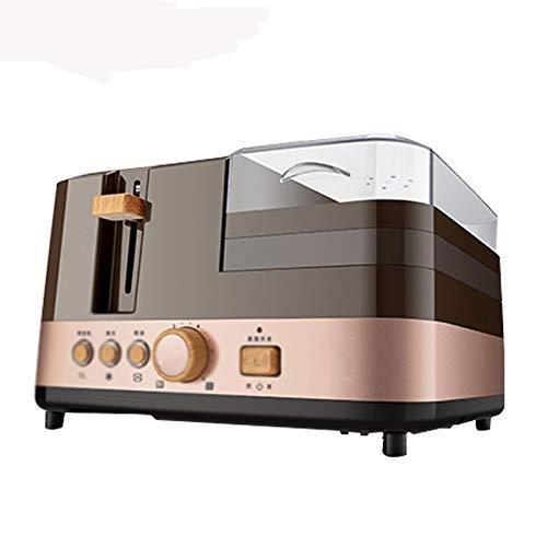 TDDGG 4 in 1 Colazione elettrico multifunzione tostapane Sandwich macchina di famiglia Padella Pane Maker Egg vapore