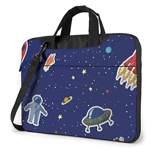 Space Rockets Planets (2) Laptop Bag Compatible Laptop Carrying Shoulder Handbag Briefcase With Strap,