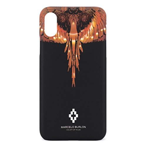 MARCELO BURLON County of Milan Cover/Custodia Wings Gold Compatibile con iPhone XS, X - Rigida - Soft Touch e Antiurto - Protezione Frontale rialzata MBU_MX-WINGSG_OS