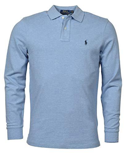 POLO RALPH LAUREN Men's Long Sleeve Mesh Polo Shirt (XXL, JamicaBlue)